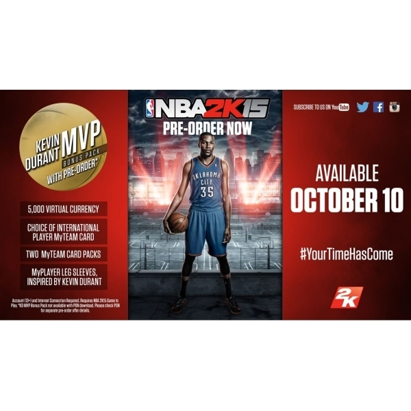 NBA 2K15 PC Game (Kevin Durant MVP DLC Bonus Pack) (Boxed and Digital Code) - Image 2
