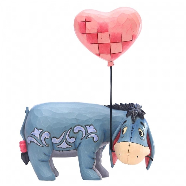 Eeyore with a Heart Balloon (Winnie The Pooh) Disney Traditions Figurine
