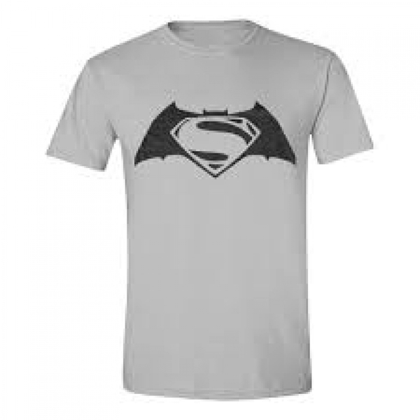 DC Comics Batman vs Superman: Dawn of Justice Adult Male Logo Large T-Shirt