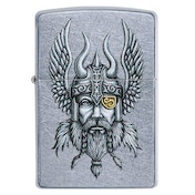 Zippo Viking Warrior Chrome Regular Windproof Lighter