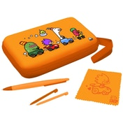 IMP Funkit5 Aero 5-in-1 XL Accessory Case Kit In Orange 3DS XL & DSi XL