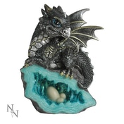 Nest Guardian Blue Dragon Figurine