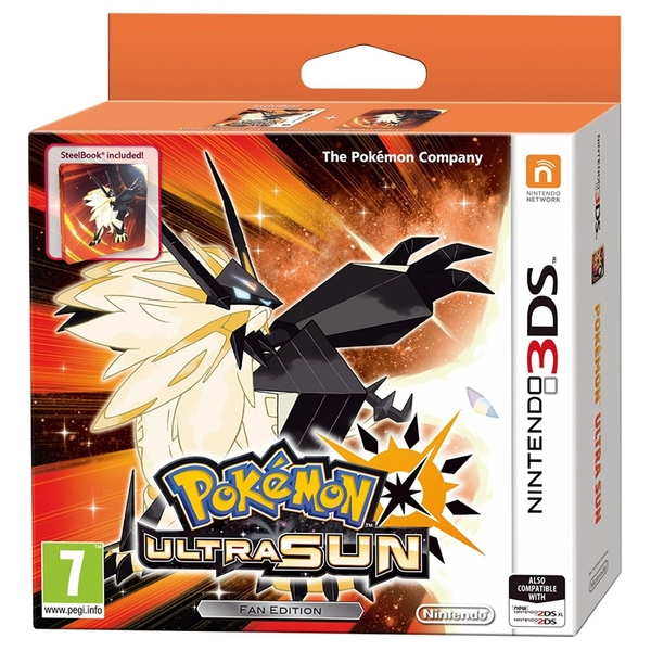 Pokemon Ultra Sun Steelbook Fan Edition 3DS Game - Image 1
