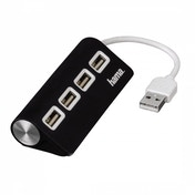 Hama USB 2.0 Hub 1:4 Bus Powered (Black)