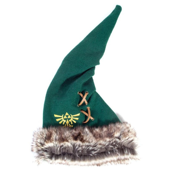 Nintendo - Furry Pointy Unisex Pointy Beanie - Green/Brown
