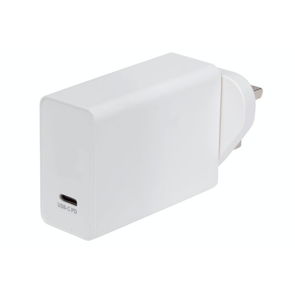 Maplin USB-C Port Wall Charger with 18W PD Power Delivery UK Plug