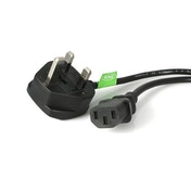 StarTech 3m UK Computer Power Cord - 3 Pin Mains Lead - C13 to BS-1363 UK Plug