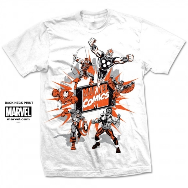 Mavel Comics Marvel Montage 2 Mens White T Shirt XX Large
