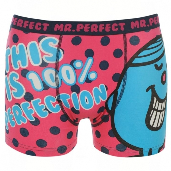 Character Mr Men Mr Perfect Single Boxers Mens Large