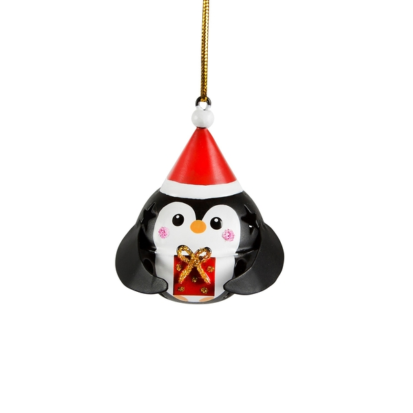 Sass & Belle Festive Penguin Hanging Bell Decoration