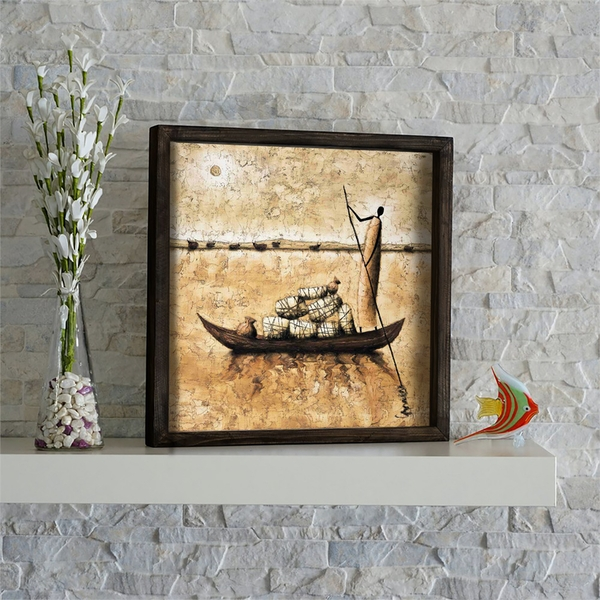 KZM425 Multicolor Decorative Framed MDF Painting