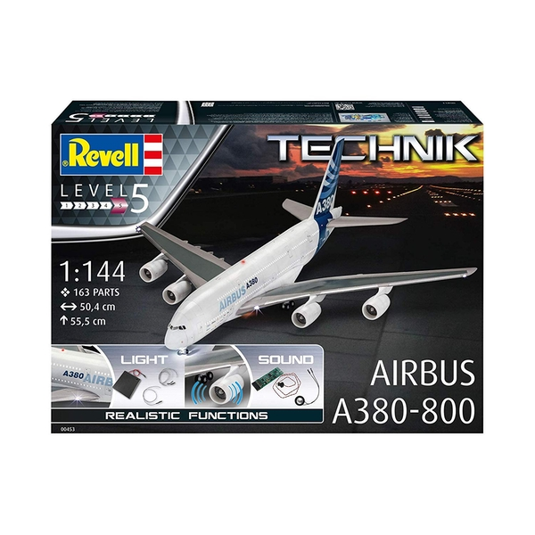 Airbus A380-800 (Aircraft) 1:144 Scale Level 5 Revell Technik Model Kit