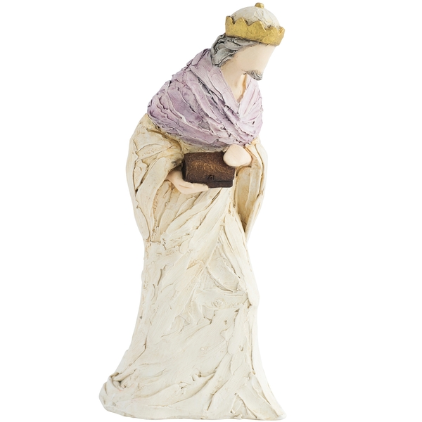More than Words Nativity Figurines Wise Man Purple (Gold)