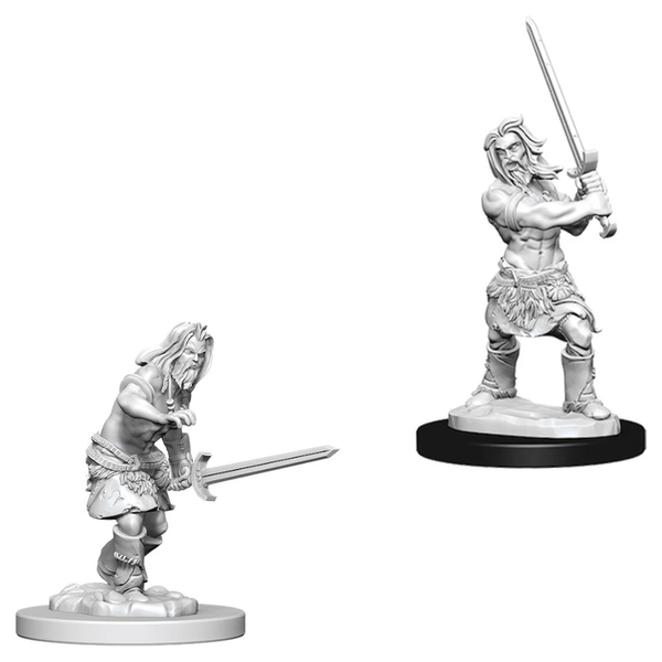 Pathfinder Battles Deep Cuts Unpainted Miniatures (W1) Male Human Barbarian
