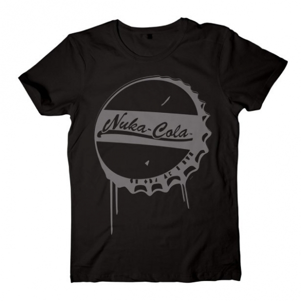 Fallout 4 Nuka Cola Bottle Cap Small T-Shirt - Black