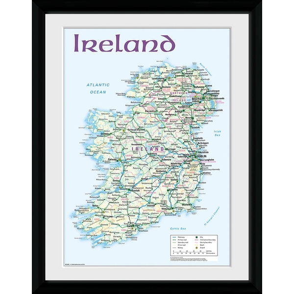 Ireland Map Collector Print