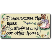 Please Excuse The Mess Smiley Magnet Pack Of 12