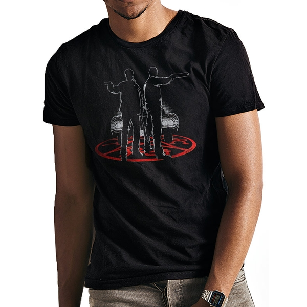 Supernatural - Unisex Small Silhouette T-Shirt (Black)