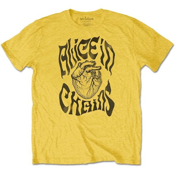 Alice in Chains - Transplant Unisex Large T-Shirt - Yellow