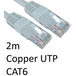 RJ45 (M) to RJ45 (M) CAT6 2m White OEM Moulded Boot Copper UTP Network Cable - Image 2