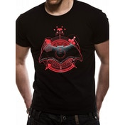 Justice League Movie - Batman Symbol Men's Small T-Shirt - Black
