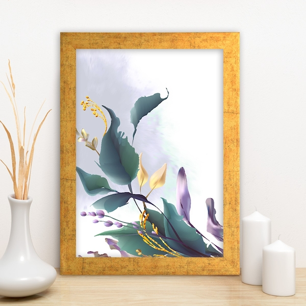 AC14873459634 Multicolor Decorative Framed MDF Painting