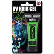(5 Pack) PaintGlow UV Neon Hair Gel Blister Pack (Green) 10ml