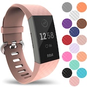 YouSave Activity Tracker Silicone Sports Strap - Rose Gold (Small)