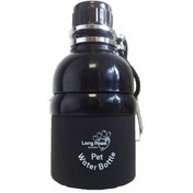 Long Paws Black 250ml Pet Water Bottle