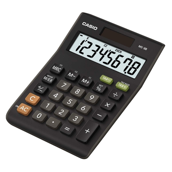 Casio MS8B Desk Calculator with Tax Calculations