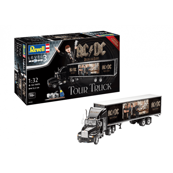 AC-DC Tour Truck & Trailer Level 3 1:32 Limited Edition Revell Model Gift Set - Image 1