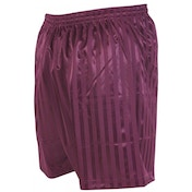Precision Striped Continental Football Shorts 30-32 inch Maroon