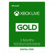 Xbox Live Gold 3 Month Membership Card Xbox 360 and Xbox One Digital Download