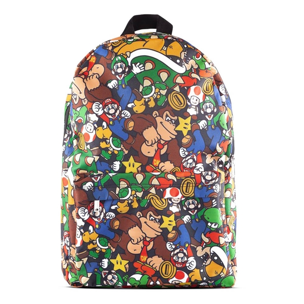Nintendo - Characters All-Over Print Backpack - Multi-Colour
