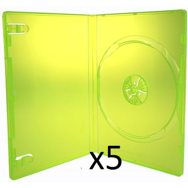 Replacement Official Case (Green) Xbox 360 - Pack of 5