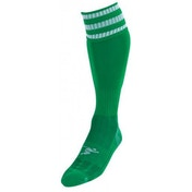 PT 3 Stripe Pro Football Socks Boys Green/White