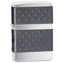 Zippo Black Zip Guard Brushed Chrome Windproof Lighter