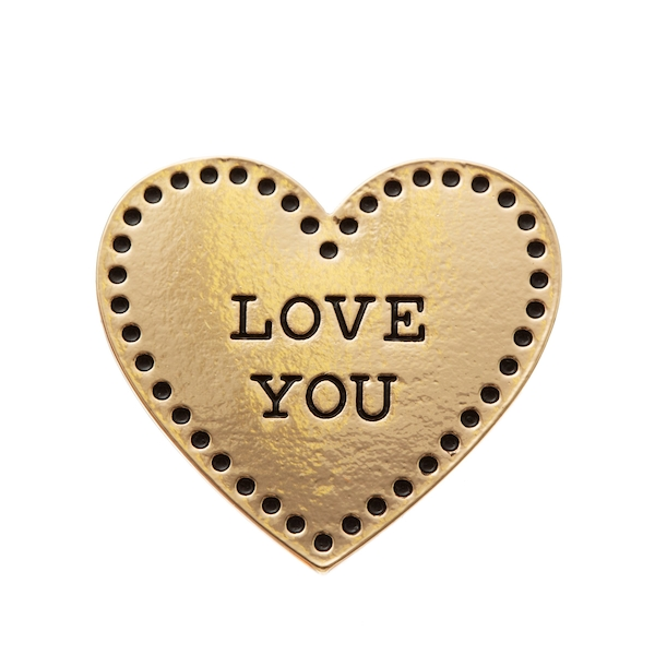 Sass & Belle Gold Love Heart Pin Fashion Accessory
