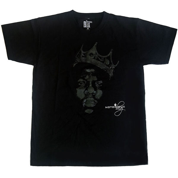 Biggie Smalls - Green Crown Unisex Medium T-Shirt - Black