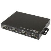StarTech 4 Port Wall Mountable USB to Serial Adapter Hub with COM Retention