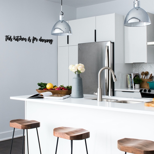 This Kitchen is For Dancing Black Decorative Wooden Wall Accessory
