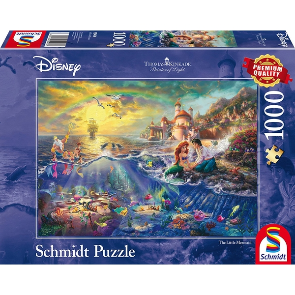 Thomas Kinkade Disney The Little Mermaid 1000 Piece Jigsaw Puzzle - Image 1