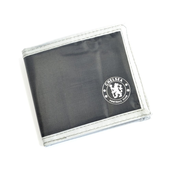 Chelsea Multi Pocket Black Canvas Crest Wallet