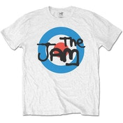 The Jam - Spray Target Logo Kids 5 - 6 Years T-Shirt - White