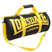 Lonsdale Barrel Bag Black & Yellow