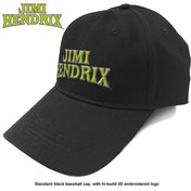 Jimi Hendrix - Arched Logo Men's Baseball Cap - Black