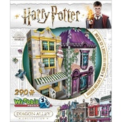 Wrebbit 3D Harry Potter Diagon Alley Collection: Madam Malkins & Florean Fortescues Jigsaw Puzzle - 290 Pieces
