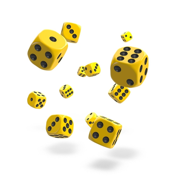 Oakie Doakie Dice D6 (Solid Yellow)