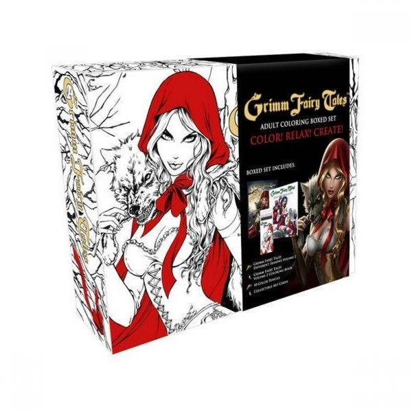 Grimm Fairy Tales  Colouring Book: Box Set