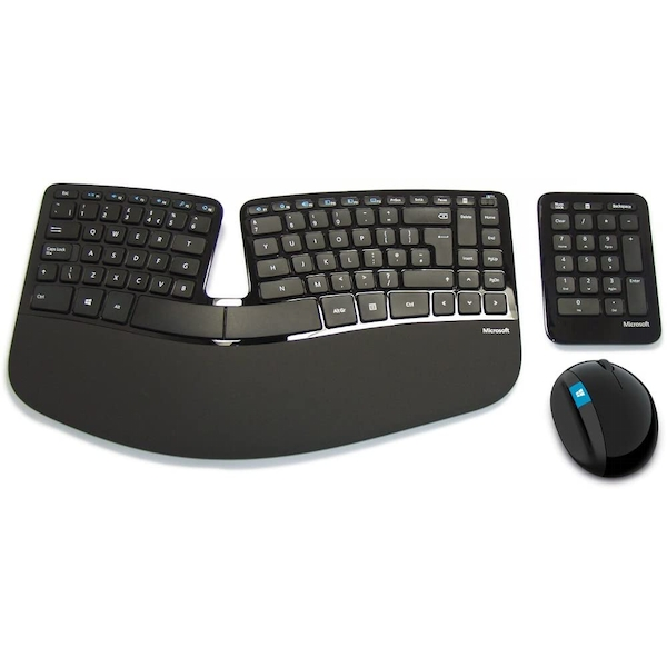 Microsoft Sculpt Ergonomic Desktop Wireless Keyboard and Mouse Set with Number Pad